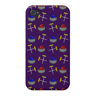 purple curling pattern iPhone 4 cover