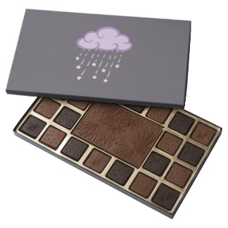 Purple Curls Rain Cloud With Falling Stars Assorted Chocolates