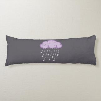 Purple Curls Rain Cloud With Falling Stars Body Pillow