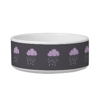 Purple Curls Rain Cloud With Falling Stars Bowl