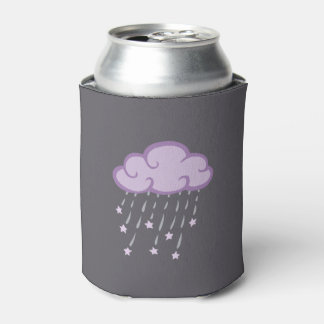 Purple Curls Rain Cloud With Falling Stars Can Cooler