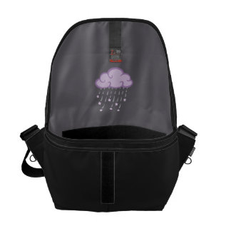 Purple Curls Rain Cloud With Falling Stars Courier Bag