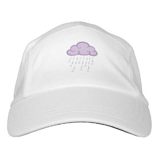 Purple Curls Rain Cloud With Falling Stars Headsweats Hat