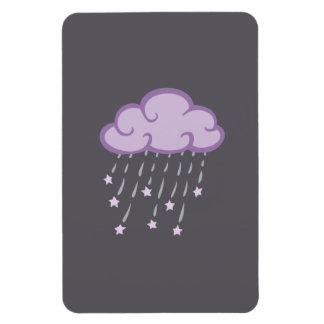 Purple Curls Rain Cloud With Falling Stars Magnet