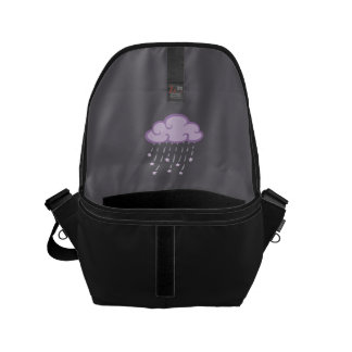 Purple Curls Rain Cloud With Falling Stars Small Messenger Bag