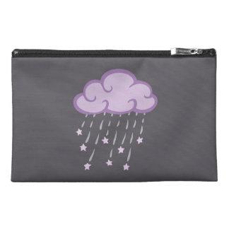 Purple Curls Rain Cloud With Falling Stars Travel Accessories Bags