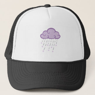 Purple Curls Rain Cloud With Falling Stars Trucker Hat