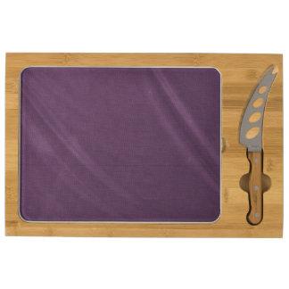 Purple Curtain Rectangular Cheeseboard