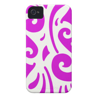 Purple Curves iPhone 4 Covers