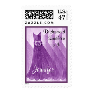 Purple CUSTOM NAME Bridesmaid Luncheon Postage