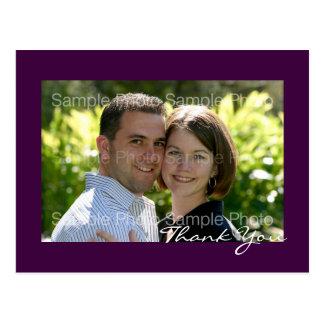 Purple Custom Photo Wedding Thank You PostCards