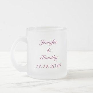 Purple customizable bride's maid 2010 frosted mug mug