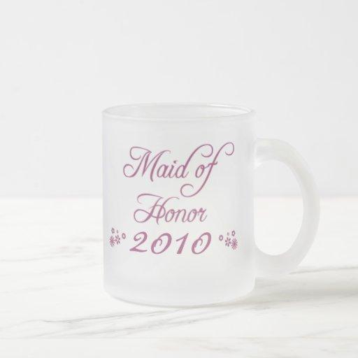 Purple customizable bride's maid 2010 frosted mug