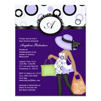 Purple Cute Baby Shower Invites