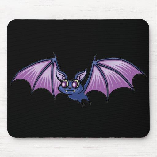 Purple Cute Bat Mouse Pad