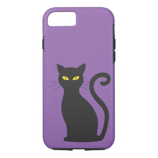 Purple Cute Black Cat Tough Case iPhone 7 Case