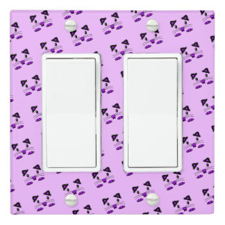 Purple Cute Hamster / Mouse light switch cover