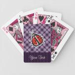 Purple Cute Ladybug Bicycle Playing Cards