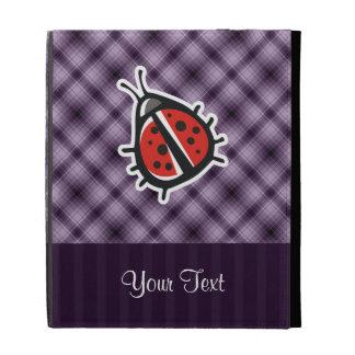Purple Cute Ladybug iPad Cases