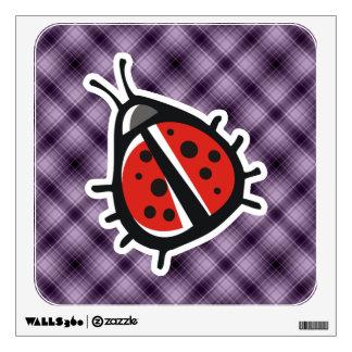 Purple Cute Ladybug Wall Decal