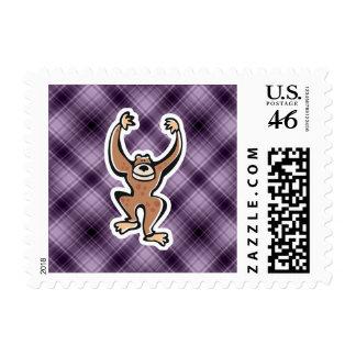 Purple Cute Monkey Postage