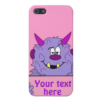 Purple Cute Monster Customizable Template iPhone 5 Cover