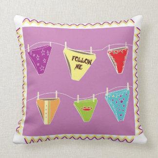 Purple cute panties illustration throw pillow