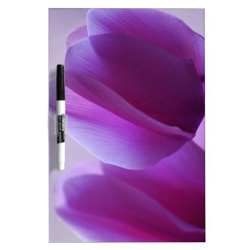Purple Cyclamen Dry Erase Whiteboards