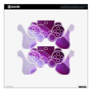 Purple Cyclamen PS3 Controller Skin