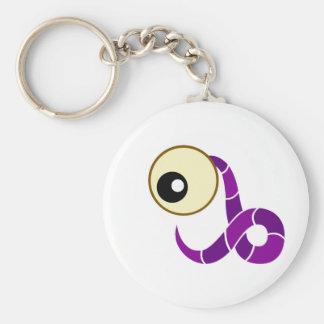 Purple Cyclops Creature Keychain