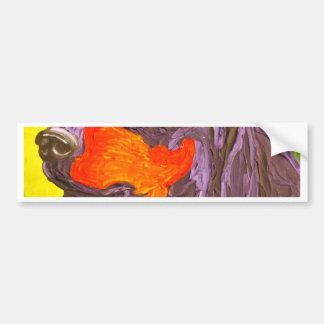 Purple Dachshund Bumper Sticker