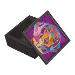 Purple Dachshund Keepsake Box