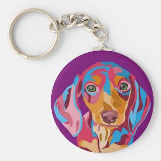 Purple Dachshund Keychain