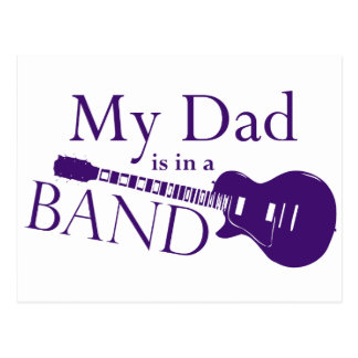 Purple Dad is in a Band Postcard