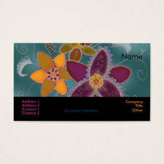 Purple Daffodil Business Cards