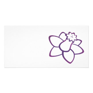 Purple Daffodil Custom Photo Card