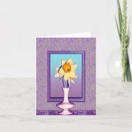 Purple Daffodil Note Card card