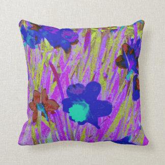 'Purple Daffodils' Throw Pillow