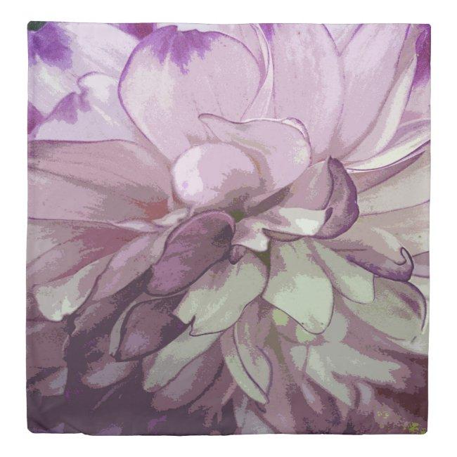 Purple Dahlia Design Duvet Cover