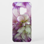 "Purple Dahlia Design Galaxy S9 Case<br><div class=""desc"">Purple Dahlia Floral Design Samsung Galaxy S9 Case with optional personalization.</div>"