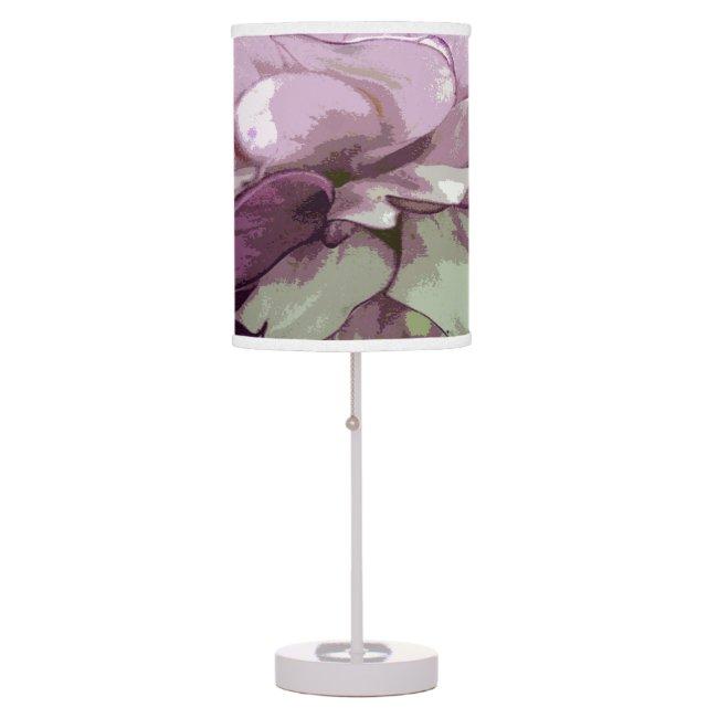 Purple Dahlia Design Lamp Shade