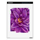Purple Dahlia Flower Original Art Skins iPad 3 Decal