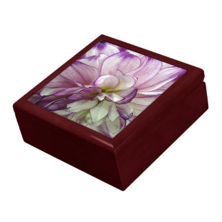 Purple Dahlia Mahogany Gift Box