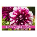 Purple Dahlia Passion Happy Birthday Card