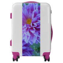 Purple Dahlia Suitcase Luggage