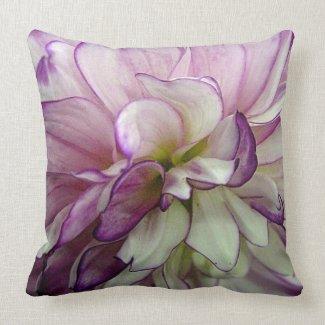 Purple Dahlia Throw Pillow