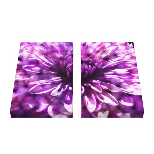 Purple Dahlia - Wrapped Canvas Stretched Canvas Print