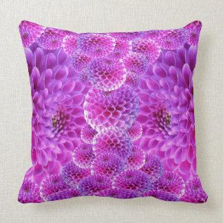 Purple Dahlias Pillows