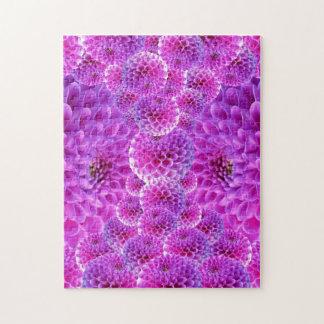 Purple Dahlias Jigsaw Puzzle