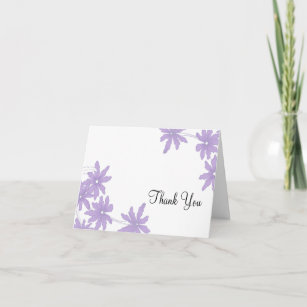 Purple Daisy Thank You Notes Gifts On Zazzle